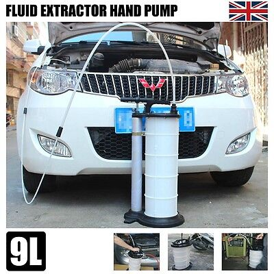 Engine Oil Brake Fluid Extractor Removal 9L Sump Transfer Vacuum Hand Pump