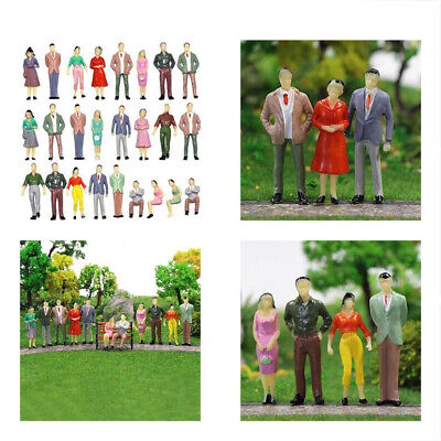 1:150 Scale DIY Painted People Figures Models For Sand Table Train Layout 100pcs