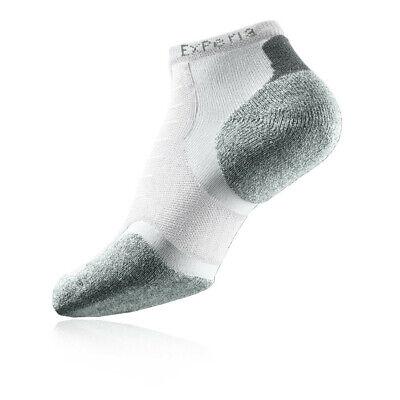 Thorlos Experia Micro Mens White Sports Running Mini Crew Ankle Socks Crew Mini Ankle Socks