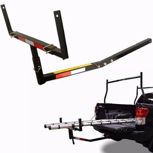Pick Up Truck Bed Hitch Extender Extension RACK Canoe Boat Kayak Lumber w/flag