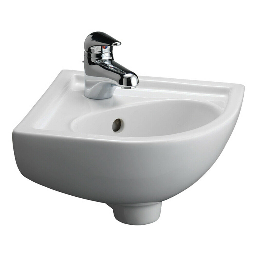 Barclay Petite Corner Basin, White