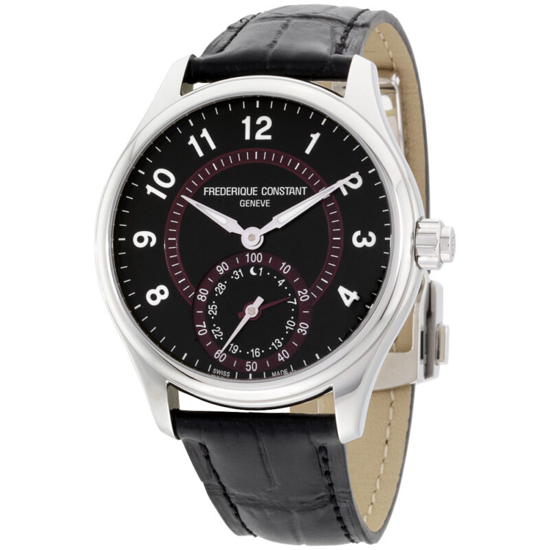 Frederique Constant Classics Black Dial Leather Strap Men's Watch FC285BBR5B6 - watch picture 1