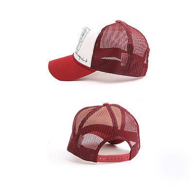 Mens Womens Basquiat graffiti Mesh Baseball Cap Trucker Snapback Hats Red