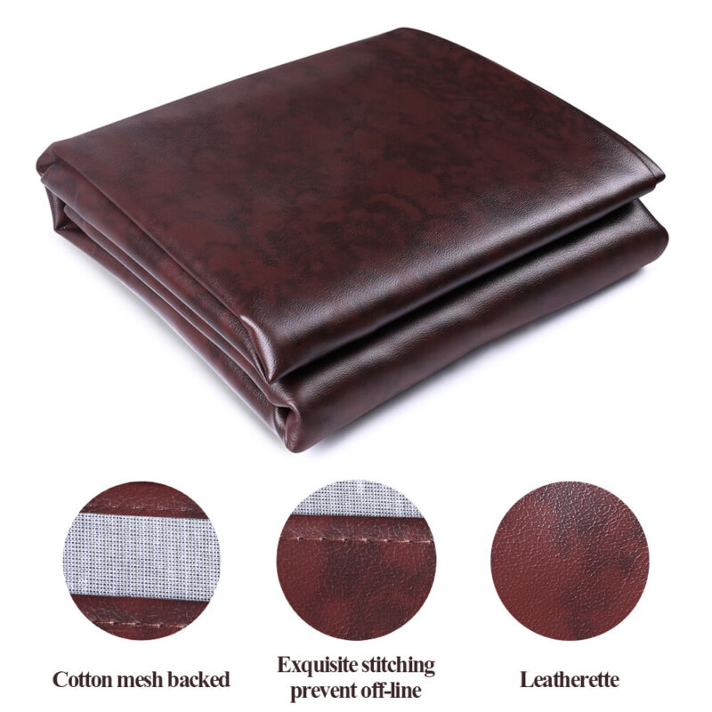 Pool Table Cover Heavy Duty Fitted Billiard Cover Leatherette Waterproof 7