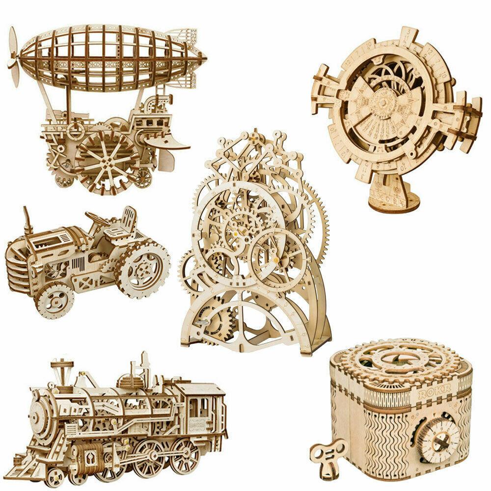 ROKR Zahnrad Modellbau Kits Holzbau Set Spielzeug DIY Geschenk für Jugendliche