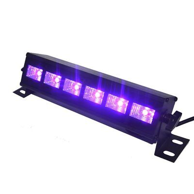 UV LED Bar Black Lights 3W x 6 LEDs for Parties Halloween Club Metal Housing - Black Lights For Parties
