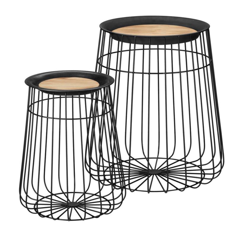 Home Decorators Collection Round Black Metal Decorative Bask