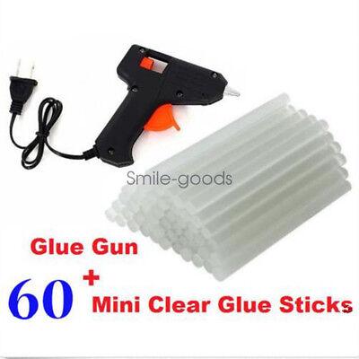 Glue Gun Crafts (Hot Melt Glue Gun Sticks Electric Heating DIY Applicator Mini Kit Arts)
