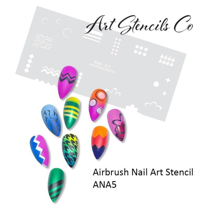 Nail Art Airbrush Stencil for Fun Prints ANA5
