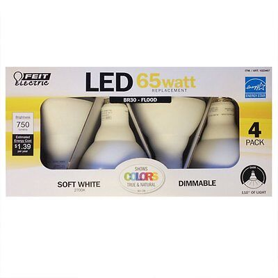 FEIT ELECTRIC 65 Watt Replacement LED Light Bulb Dimmable BR