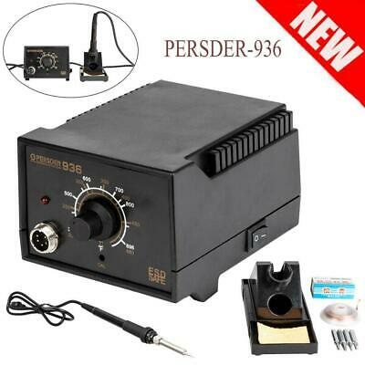 Persder-936esd Smd Electric Soldering Station Solder Iron Welding Kit W4 Tips