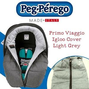 NEW Peg Perego Primo Viaggio Igloo Cover, Light Grey Condtion: New