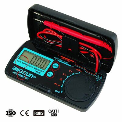 Mini Autorange Digital Multimeter Automotivetester Ac Dc Volt Amp Ohm Data Hold