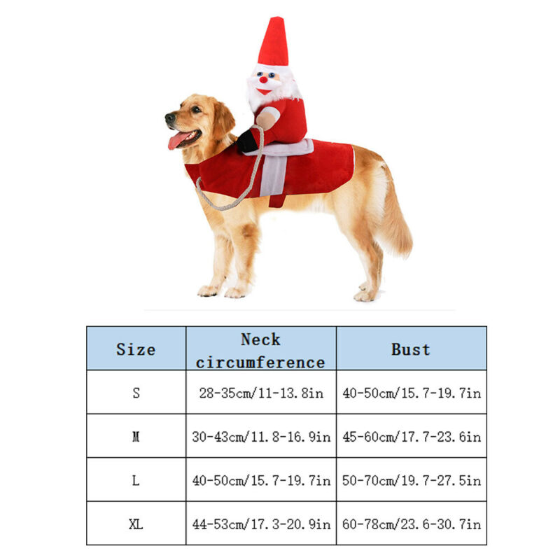 Christmas Pet Xmas Reindeer Dog Costume Cat Hoodie Clothes Coat Puppy Outfit 4