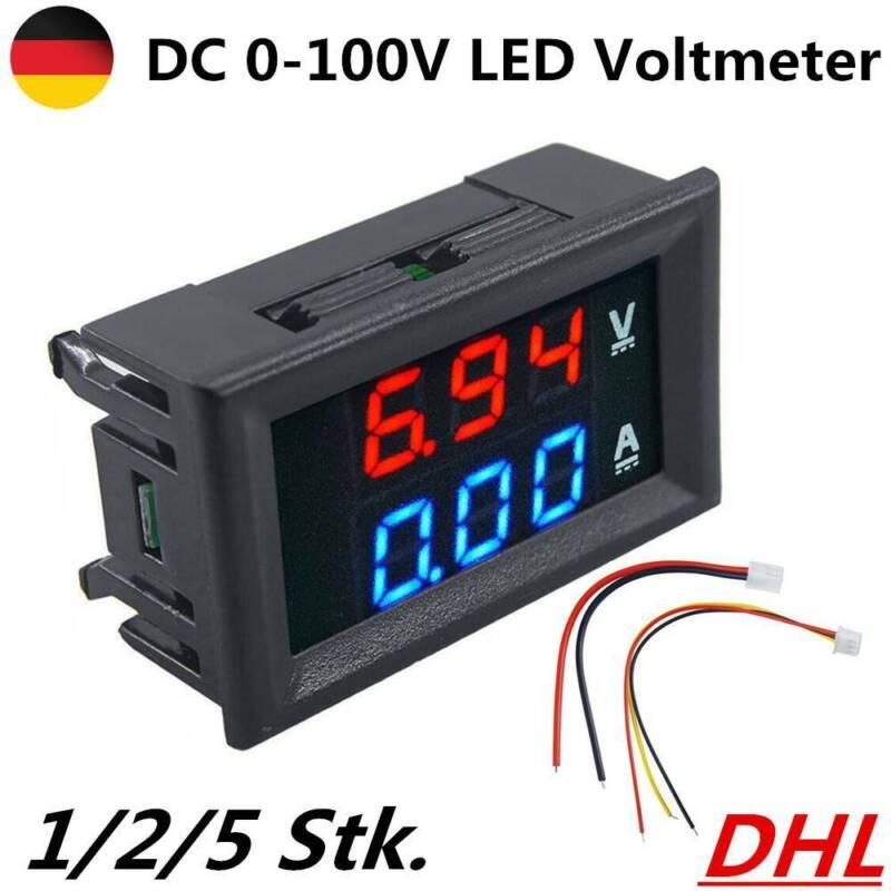 DC0-100V Auto Motorrad Digital Voltmeter Spannungsmesser LED-Anzeige wasserdicht