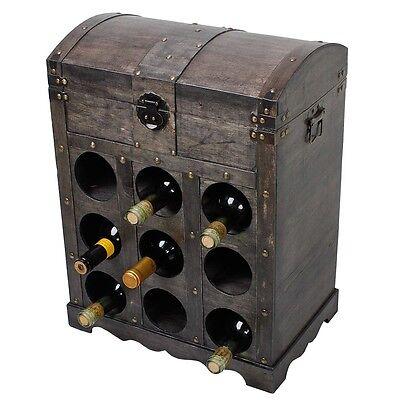 Weinregal Kolonialstil 9 Flaschen Flaschenregal Flaschenständer Weinschrank Sekt