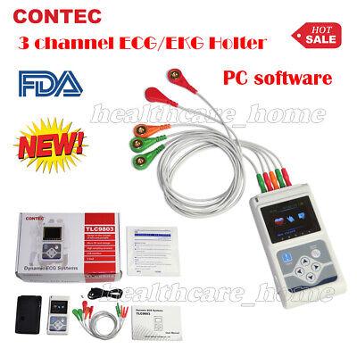 Contec 24hour Dynamic Ecgekg Holter 3 Channels Ecg Recordersoftware Tlc9803