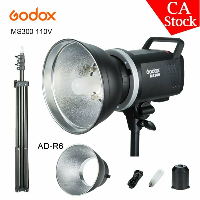 US Godox 2.4G MS300 300WS 110V Studio Strobe Camera Flash Light + 2M Light Stand