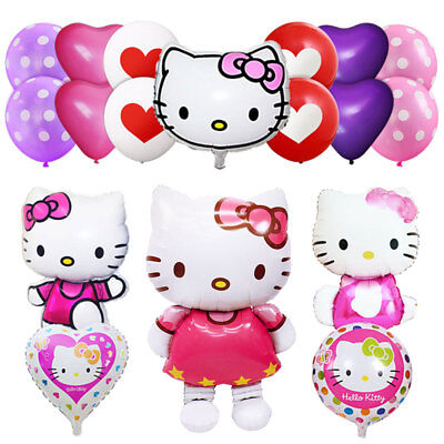 Hello Kitty 44'' 46'' 18' Giant Huge Helium Foil Latex Balloons Birthday Party