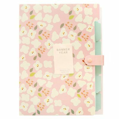 Skydue Floral Printed Accordion Document File Folder Expanding Letter Organ X8F8