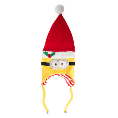 Despicable Me Minions Santa Hat Beanie Cap Christmas Holiday Laplander Beanie