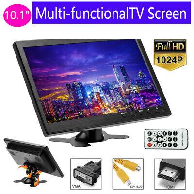 "10.1"" HD Monitor For Car Security PC Laptop Screen TFT LCD CCTV HDMI BNC AVI VGA"