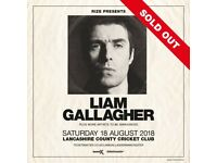 4x Liam Gallagher standing tickets, Old Trafford Manchester, Saturday 18th August 2018