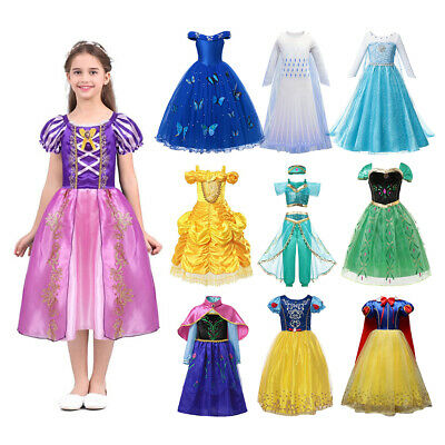Dressing Up Kids (Kids Hot Sale Princess Dress Up for Girls Elsa Snow White Anna Cosplay)