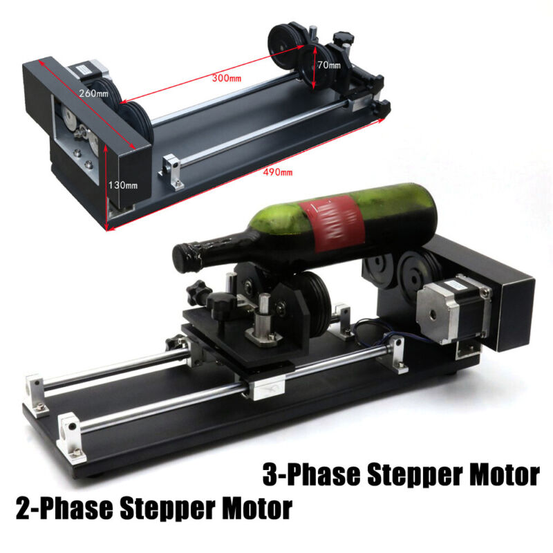 Rotary Attachment Roller Axis Laser Engraver Machine Rotation f/ Engraving 2/3P