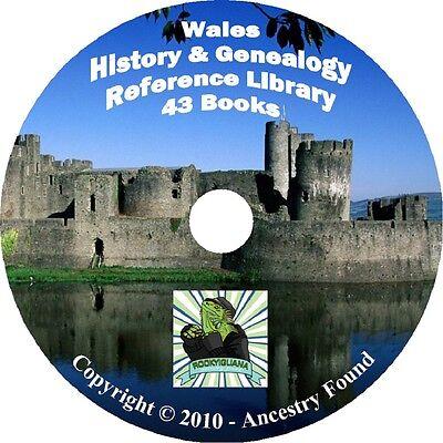 43 old books WALES History & Genealogy Family Tree