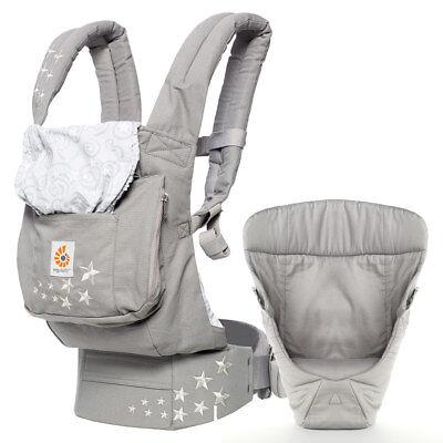 Ergobaby Babytrage Bauchtrage Original inkl. Neugeborenen-Einsatz - Galaxy Grey