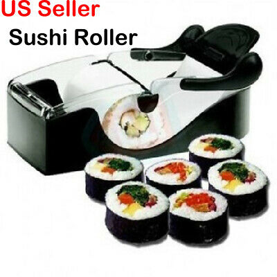 New Sushi Roller Cutter Machine Kitchen Gadgets Magic Maker Perfect Tool
