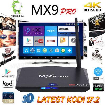 2017 MX9 PRO Android 7.1 Internet TV Box 2GB+16GB KDMC Media Player Free Movies