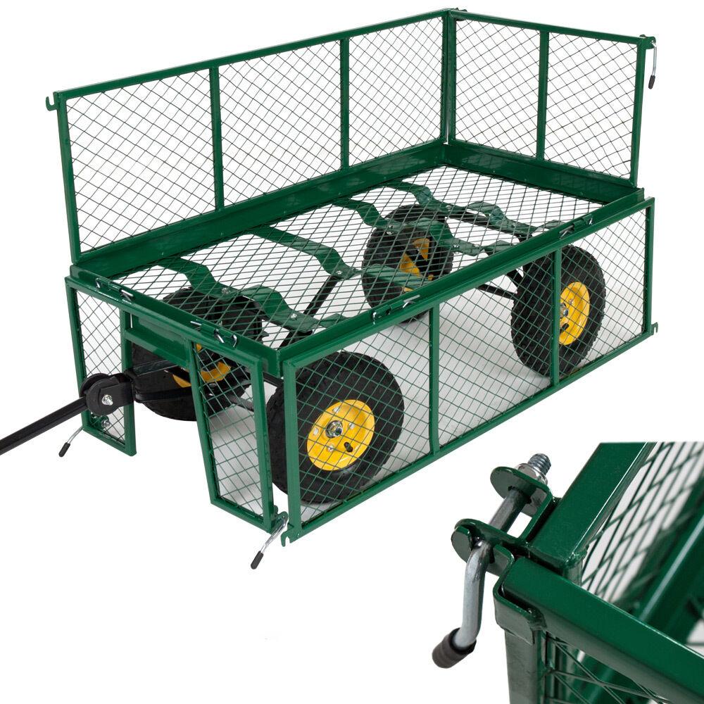 chariot de transport remorque main max 550 kg bache charette de jardin eur 105 90. Black Bedroom Furniture Sets. Home Design Ideas
