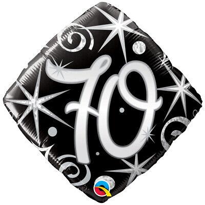Schwarz und Silber 70th Geburtstag Luftballon