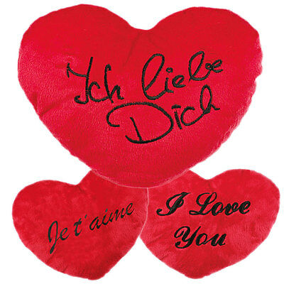 Herz Kissen Plüschkissen Kissenherz Herzkissen Größen von 10 cm bis XXL 60 cm