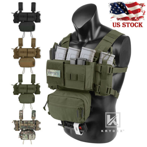 KRYDEX MK3 MK4 Micro Fight Chest Rig Chassis Tactical Carrier w/ Magazine Pouch