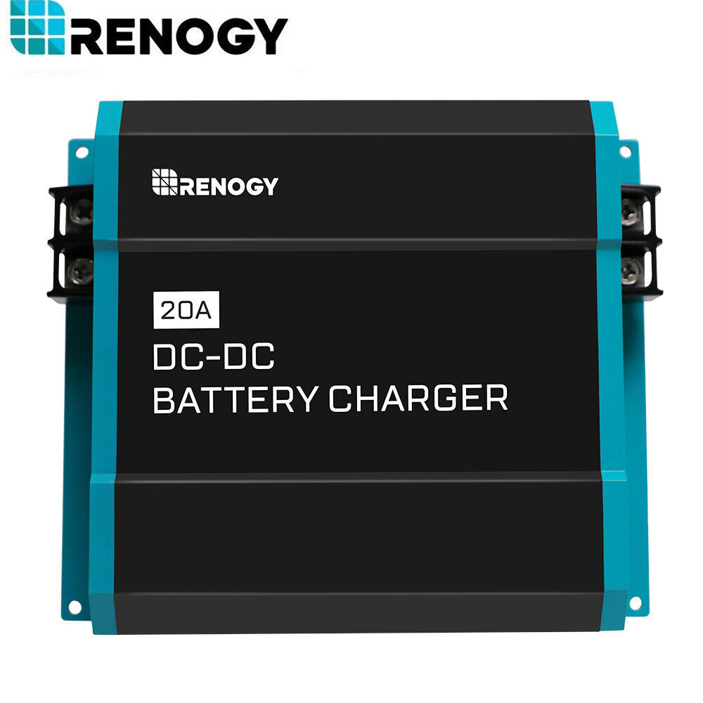 Renogy 20A DC-DC 12V Battery Charger for Flooded, Gel, AGM,