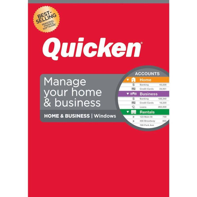 Quicken - Home & Business Personal Finance (1-Year Subscription) - Windows