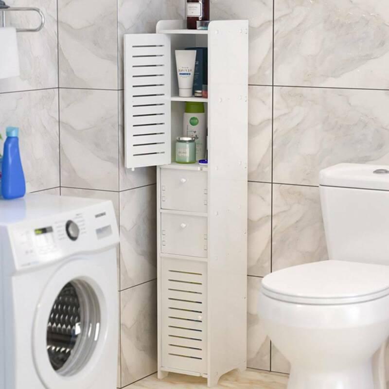 Badschrank Unterschrank mit 2 Schubladen Badregal Badezimmerschrank Hochschrank