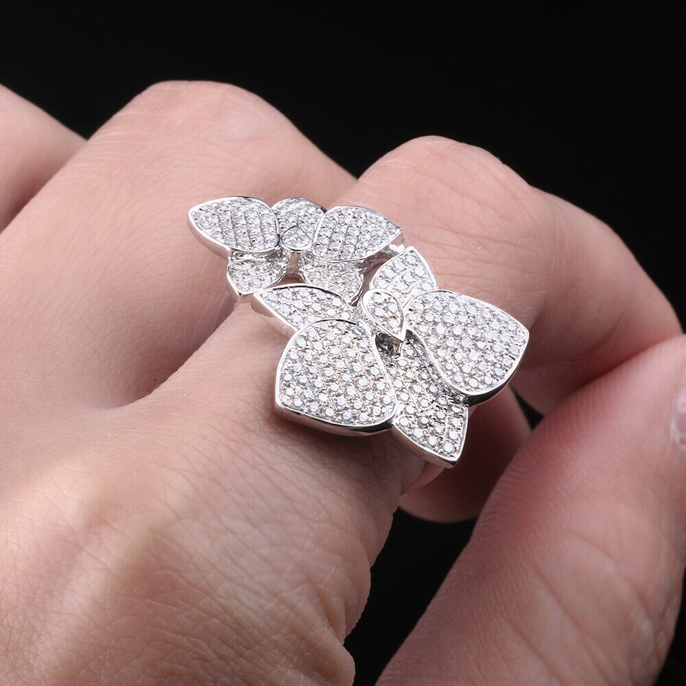 AAA Cubic Zirconia Vintage Jewelry Antique Solid 14K White Gold ...