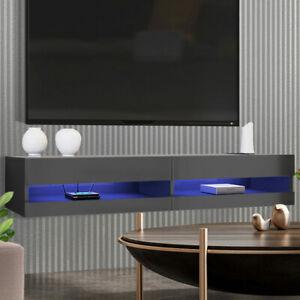 Luxo Marshall 180 cm LED Floating Entertainment Unit - Black