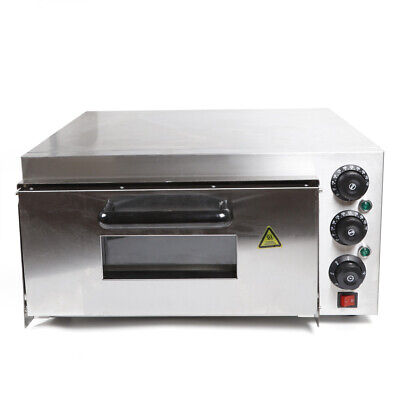 Restaurant One Deck Electric Pizza Oven Broiler Oven 10-12 Pizza 2000w 300c