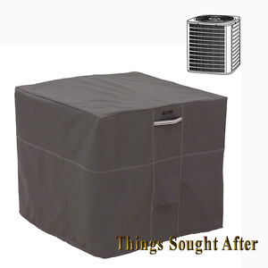 Cover for square air conditioner outdoor central exterior for Ground air conditioner