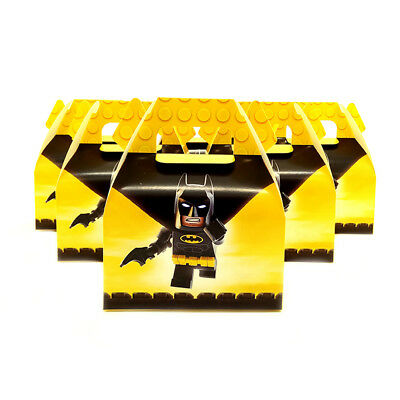6pcs/lot Candy Box Cake Box for Kids Batman Theme Party Baby Shower Party Decora (Baby Batman Party Supplies)
