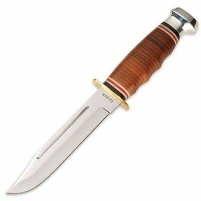 Ka Bar 2-1235-2 Leather Handled Marine Hunter Knife