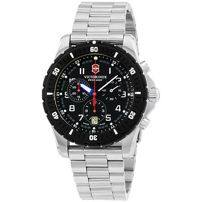 Victorinox Swiss Army Black Dial Stainless Steel Men's Watch 241679