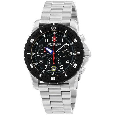 Victorinox Swiss Army Black Dial Stainless Steel Men's Watch 241679