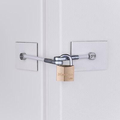 Marinelock White Refridgerator Door Lock With Padlock