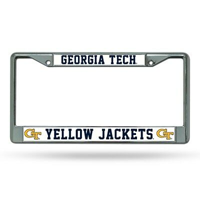 Georgia Tech Yellow Jackets Chrome License Plate Frame Georgia Tech Yellow Jackets Framed